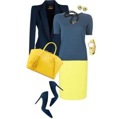 Yellow Pencil Skirt by tgtatiana on Polyvore featuring polyvore, fashion, style, Piazza Sempione, Roberto Cavalli, Blaque Label, Alice + Olivia, Nancy Gonzalez, Longines and Angela Cummings