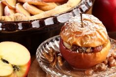baked apples with raisins