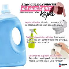 Cleaning Solutions, Cleaning Hacks, Limpieza Natural, Clean House, Helpful Hints, Origami, Sweet Home, Homemade, Tips