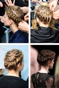 VALENTINO BRAIDS  How much do you love the braids from the Valentino S/S '12 collection?    Created by the amazing Guido Palau, this romantic braided hairstyle looks as good off the catwalk.