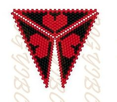 Bigyibogyó: Peyote háromszög minta - Valentin-napra