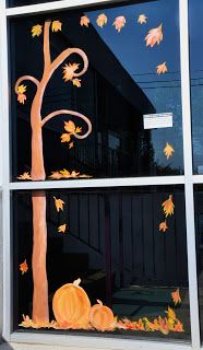 Fall is HERE!!  Which means it's finally time to start some window painting!                    I just did these fall scapes for a friend o...