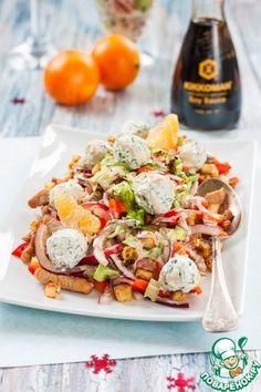 "Салат ""Новогодний"" Top Salad Recipe, Salad Recipes, Appetizer Salads, Tasty, Yummy Food, Simply Recipes, Russian Recipes, Different Recipes, International Recipes"