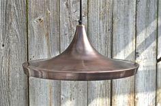 Large retro Danish design vintage copper hanging pendant light ceiling lamp LRD1  | eBay