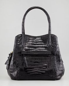 Small Trap Tote Bag, Black by Nancy Gonzalez at Neiman Marcus.