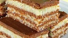 Kokosowe warstwowe ciasto bez pieczenia to spełnienie marzeń każdego łasucha! Polish Desserts, Polish Recipes, Cookie Desserts, Sweet Desserts, Food Cakes, Mini Cakes, Cake Cookies, Vanilla Cake, Cake Recipes