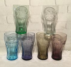 291021b84925 6 McDonalds Coca Cola Promo Glasses 6