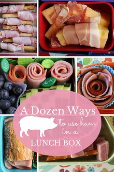 12 different ways to pack ham in a lunch box. Fun and cute!