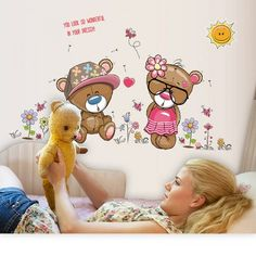 Buy Them Teddy for the Walls also. Cute Teddy Bears Wall Stickers!