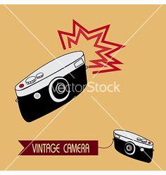 Vintage camera vector on VectorStock®