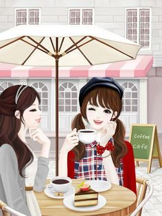 Enakei Friends + Coffee.= Priceless  By: Tokachikatakika: