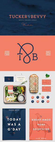 Tucker & Bevvy branding --love this, very distinctive and attractive