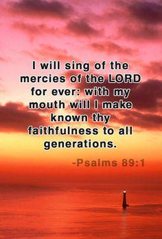 Psalm 89:1 KJV