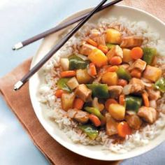 Sweet-and-Sour Pork Recipe from Taste of Home -- shared by Eleanor Dunbar of Peoria, Illinois