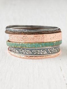 Medina Copper Bangles, I just love bracelets! Can't get enough of them!