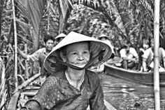 Somewhere on the Mekong River delta in Vietnam. On location with Chefs Run Wild