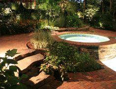 Landscape yard, garden and pool lighting design