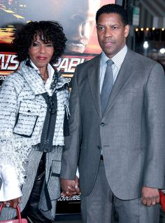 Denzel Washington con su esposa Pauletta