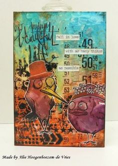 Even more cards with the Tim Holtz Crazy Birds