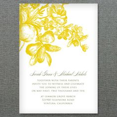 DIY Lemon Love Wedding Invitation from #downloadandprint. Have this made in your #wedding colors! www.downloadandprint.com http://www.downloadandprint.com/templates/wedding-invitation-template-lemon-love/ $18.00