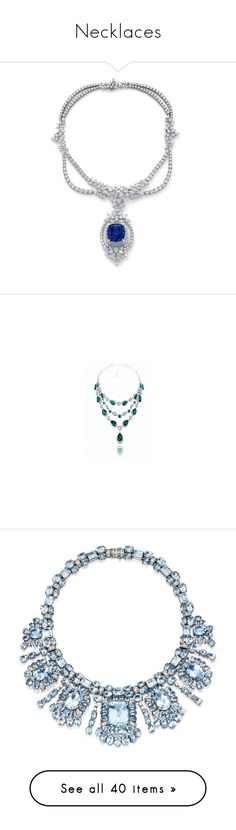 """""""Necklaces"""" by adorablequeen ❤ liked on Polyvore featuring jewelry, necklaces, blue necklace, tanzanite jewellery, indian necklaces, tanzanite necklace, indian jewellery, chopard jewelry, chopard jewellery and chopard"""