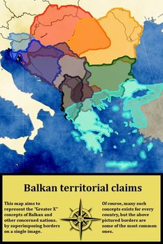 Balkan Peninsula: The Balkans, or the Balkan Peninsula, is a geographic area in Eastern, Southeastern Europe, and Central Europe with various and disputed borders. Modern World History, European History, Historical Maps, Historical Pictures, Les Balkans, Picture Borders, Teaching Geography, Alternate History, Geology