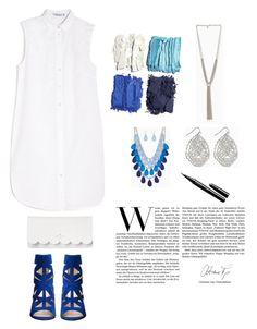 """""""Blue Summer"""" by haileydanielletaylor ❤ liked on Polyvore featuring Illamasqua, T By Alexander Wang, Nine West, Kate Spade and Marc"""