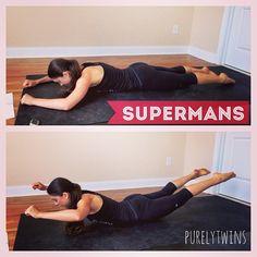 Superman pose