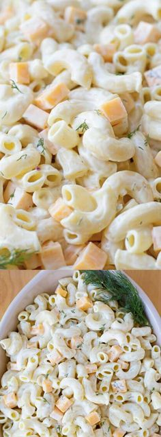 This Creamy Cheddar and Dill Macaroni Salad from Life Made Simple is one of our new favorite pasta salads! It's creamy, tangy and loaded with fresh dill and chunks of cheddar cheese.