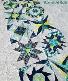 Lucky Star quilting detail by Material Girl Quilts, via Flickr