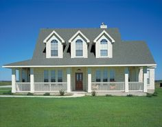 Country House Plan with 2299 Square Feet, 3 Bedroom, 2 1/2 Bath.  Beautiful porch in the front and a porch with a deck in the back.  Also includes a mud room off the garage.    Plan #331002