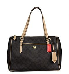 Coach Peyton Brown Signature Double Zip Carryall - Style 26187