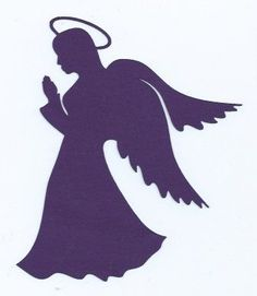 Praying angel silhouette by hilemanhouse on Etsy, $1.99: