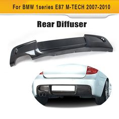 1 Series Carbon fiber Rear bumper lip spoiler diffuser For BMW E87 M sport Hatchback Only 2007 - 2010 120i 130i Two Style #Affiliate