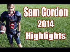 Unbelievable Girl Football Player Highlights!!! Sam Gordon 2014