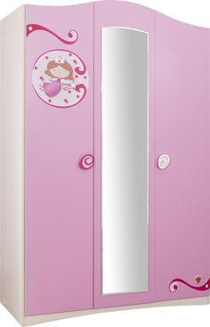 Armario 3 puertas habitación temática Princesa, www.dormitoriostematicos.com Cilek Spain
