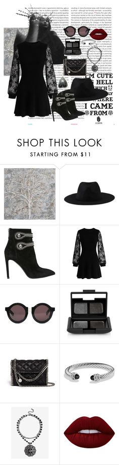 """""""Coven#1"""" by sonyavanripper ❤ liked on Polyvore featuring Oris, Renwil, Element, Pierre Balmain, Chicwish, House of Holland, NARS Cosmetics, STELLA McCARTNEY, David Yurman and Lime Crime"""