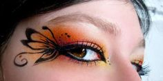 Butterfly eye makeup, going attempt something like this for Halloween.... Attempt