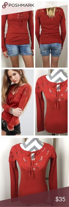 FREE PEOPLE Boho Top This top is brand new with tags and in excellent condition! 14 1/2 inches across the bust. 23 1/2 inches long. 98% cotton 2% spandex. Non-smoking pet free home.                                                                                       🔹suggested user 🔹fast shipper🔹                                   🔸bundle to save 15%🔸300+ items🔸 Free People Tops Tees - Long Sleeve