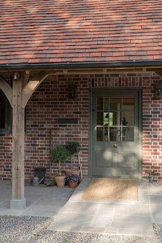 new ideas front door porch extension border oak Cottage Front Doors, Cottage Windows, Front Door Porch, Cottage Porch, Cottage Plan, House Front, Cottage Stairs, Oak Front Door, Porch Extension