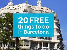 Twenty free things to do in Barcelona, with cheap attractions, museums, and cheap things to do for families and shoestring budget travellers visiting Spain