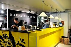 Kaffa is was first special coffee roastery in Helsinki and are now almost work as modership for rest of special coffee scene. Beside espressobased coffee they always have serving one coffe as aeropress. They share location with store Moko and also sell whole beans.
