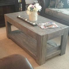 This is a very simple design of wood Pallet Coffee Table that a DIY beginner can make in two or three days by following step by step guides and DIY methods.