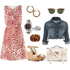 Love that dress! Pair it with some black shoes and black and silver jewelry, make it perfect for Tech!