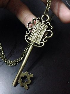Police Box key jewelry inspired Doctor Who and the TARDIS on Etsy, $9.00
