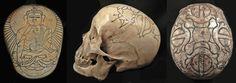 tibetan carved human skulls | tibetan skull