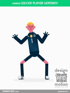 CHAR051_SoccerPlayerGermany. Part of D&M Character Kit.