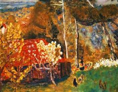 The Farmhaouse with the Red Roof-Pierre Bonnard