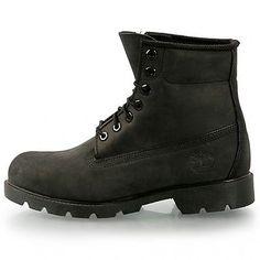 Timberland 6 Inch Basic Mens 10042 Black Nubuck Waterproof Boots Shoes Size 9