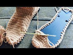 Easy Crochet Slippers, Crochet Boots, Love Crochet, Crochet Necklace Pattern, Crochet Slipper Pattern, Crochet Patterns, Crochet Flip Flops, Crochet Stitches Free, Knit Shoes